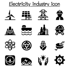 Electricity industry icon set