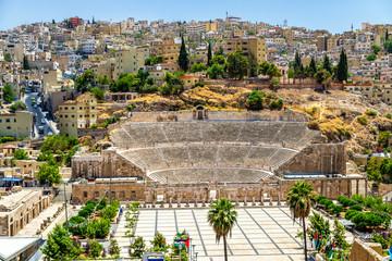 View on Roman Theater in Amman