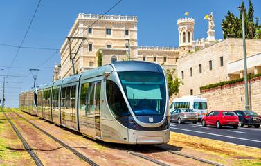 Light rail system in Jerusalem - Israel