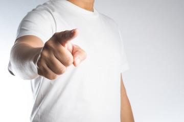 index finger pointing
