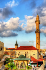 View of Mahmoudiya Mosque in old town Tel Aviv-Jaffa