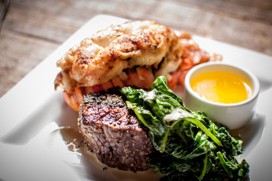 Lobster and Filet Mignon Surf and Turf Dinner