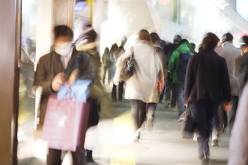 People in Shinjuku, Tokyo, Japan