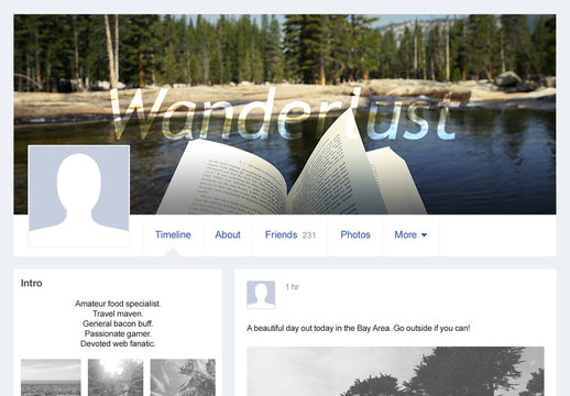 Cover Photo for Facebook with Instructions