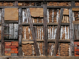old- half-timbered construction