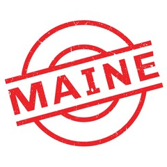 Maine rubber stamp. Grunge design with dust scratches. Effects can be easily removed for a clean, crisp look. Color is easily changed.