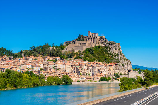 View on the village of Sisteron, Southern France