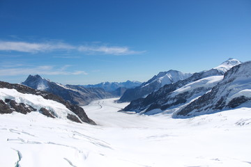 Interlaken and Grindelwald, Jungfraujoch and Eiger Mountain, Iceberg and Glacier of mountains.