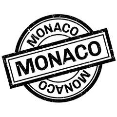 Monaco rubber stamp. Grunge design with dust scratches. Effects can be easily removed for a clean, crisp look. Color is easily changed.
