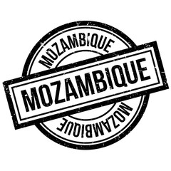 Mozambique rubber stamp. Grunge design with dust scratches. Effects can be easily removed for a clean, crisp look. Color is easily changed.