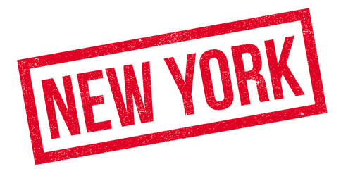New York rubber stamp. Grunge design with dust scratches. Effects can be easily removed for a clean, crisp look. Color is easily changed.