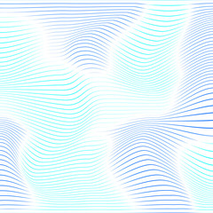 Abstract background with blue distorted shapes on a white backgr