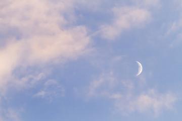 moon on cloudy sky