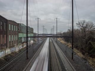 Empty railway track