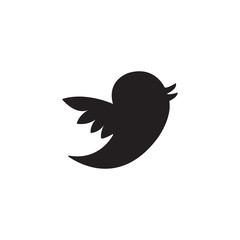 Social media solid icon, bird sign, website & internet, vector graphics, a filled pattern on a white background, eps 10.