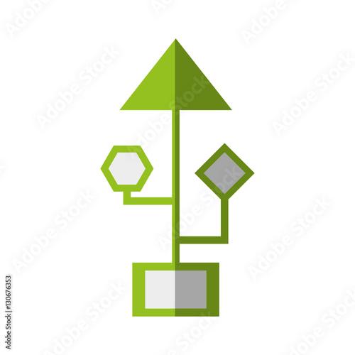 Vector: computer circuit arrow electronic component vector ...
