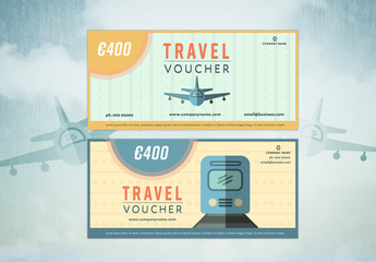 2 Illustrated Travel Voucher Layouts