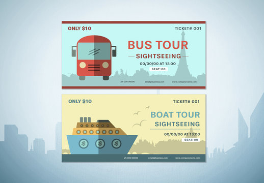 2 Sightseeing Tour Ticket Layouts