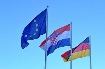 Europäische Freundschaft Kroatien Deutschland