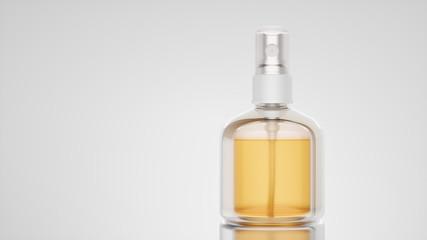 Clean bottle mockup. 3d render and illustration.
