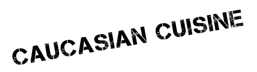 Caucasian Cuisine rubber stamp. Grunge design with dust scratches. Effects can be easily removed for a clean, crisp look. Color is easily changed.