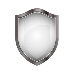 Shield icon. Security system protection and emblem theme. Isolated design. Vector illustration