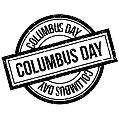 Columbus Day rubber stamp. Grunge design with dust scratches. Effects can be easily removed for a clean, crisp look. Color is easily changed.
