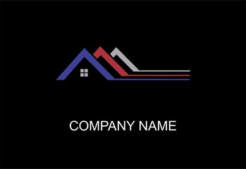 House abstract concept logo