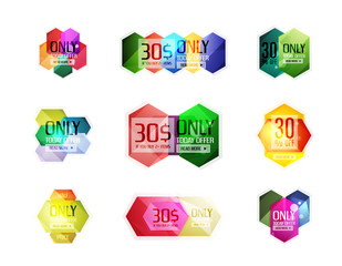 Vector special offer stickers and banners