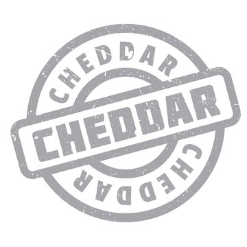 Cheddar rubber stamp. Grunge design with dust scratches. Effects can be easily removed for a clean, crisp look. Color is easily changed.