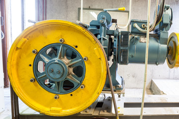 motor of the elevator