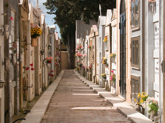 Cemetary the Italian way, Ribera, Sicily