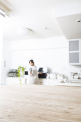 Kitchen background material