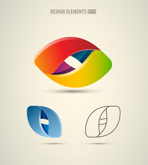 Abstract vector logo design template. Business abstract icon. Futuristic corporate icons