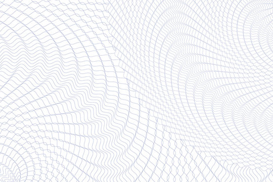 Guilloche money pattern.Guilloche background. Monochrome guilloche texture with waves. Original money pattern. For certificate, voucher, banknote, money design, currency, note, check, ticket, reward e