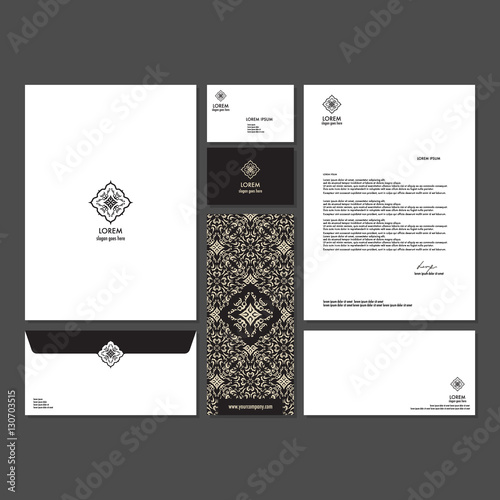 u0026quot branding identity template corporate company design  set