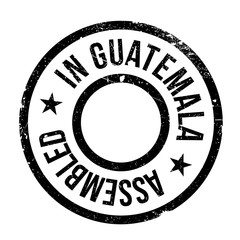 Assembled in Guatemala rubber stamp. Grunge design with dust scratches. Effects can be easily removed for a clean, crisp look. Color is easily changed.