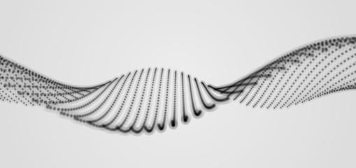 Spiral. 3d Vector Illustration. Dynamic Background.