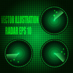 Radar vector illustration