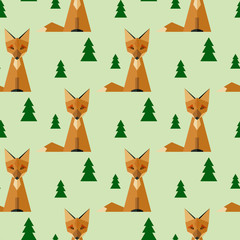 Seamless Fox Background