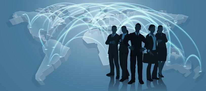 Business Team World Trade Map Logistics Concept