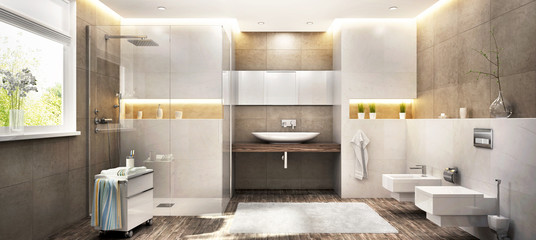 Big modern bathroom