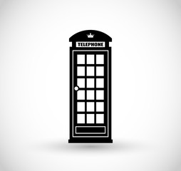 London telephone booth icon vector