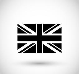 English flag icon vector