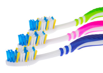 Three new toothbrushes