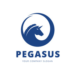 Pegasus logo template.