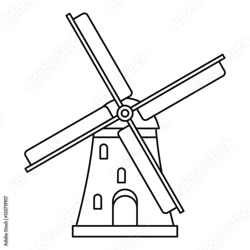 Line Drawing Windmill : Quot windmill icon outline illustration of vector