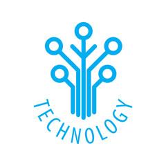 Technology vector logo
