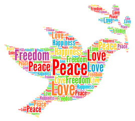 Peace, love, freedom and happiness