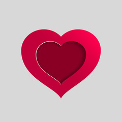 Vector pink heart